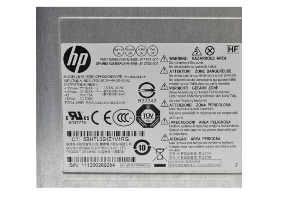 New HPE Spare Part 613762-001 1Yr Wnty Power Supply