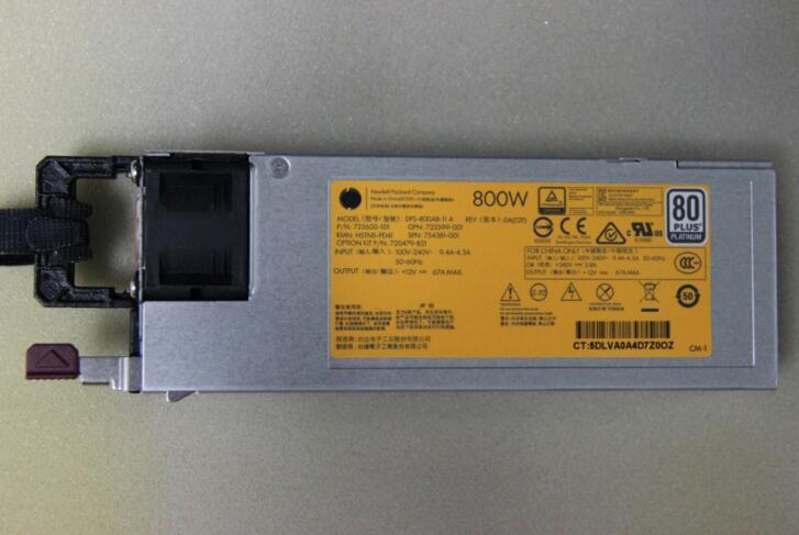 754381-001 720479-B21 800W For HP Proliant DL380 G9 Power Supply